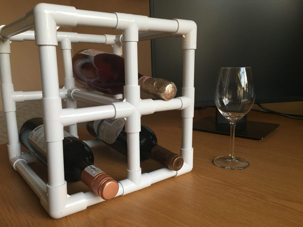 Featured image of a PVC wine rack